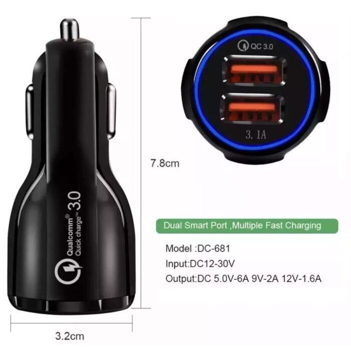 Cargador Para Auto Fast Charger 3.1A - Broxy Mexico